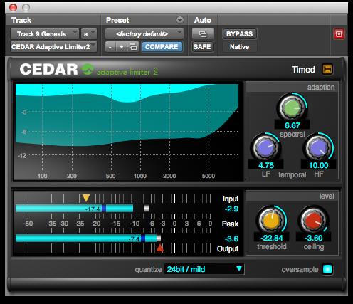 CEDAR Studio 6 Adaptive Limiter