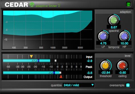CEDAR Studio Adaptive Limiter